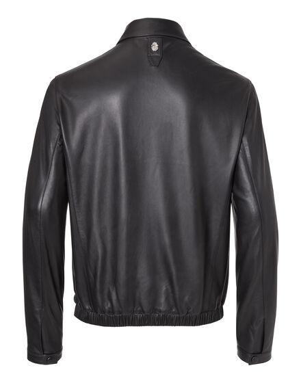 Leather Crest Jacket