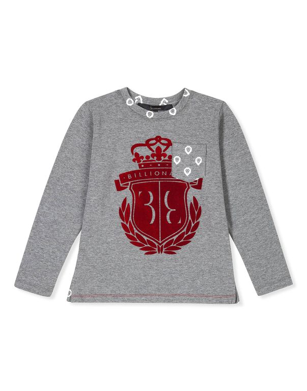 "T-shirt Round Neck LS ""Royal Mint"""