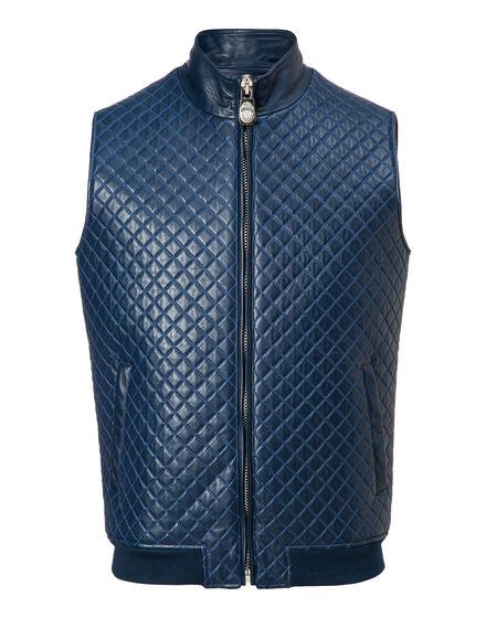 Leather Vest Short