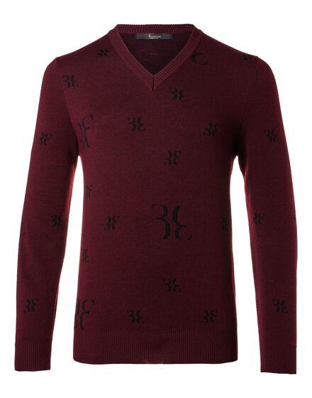 Pullover V-Neck LS Rubin